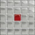 GLASS SILVER/RED MOSAIC A NEW 14,8X14,8 OD660-120 CERSANIT