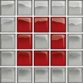 GLASS SILVER/RED MOSAIC B NEW 14,8X14,8 OD660-121 CERSANIT