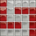 GLASS SILVER/RED MOSAIC D NEW 14,8X14,8 OD660-123 CERSANIT