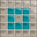 glass azure/dark beige mosaic b new 14,8x14,8 OD660-129 OPOCZNO