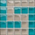 glass azure/dark beige mosaic d new 14,8x14,8 OD660-131 OPOCZNO
